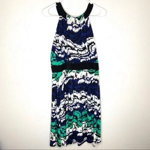 Max and Cleo dress size 10, black/blue/green